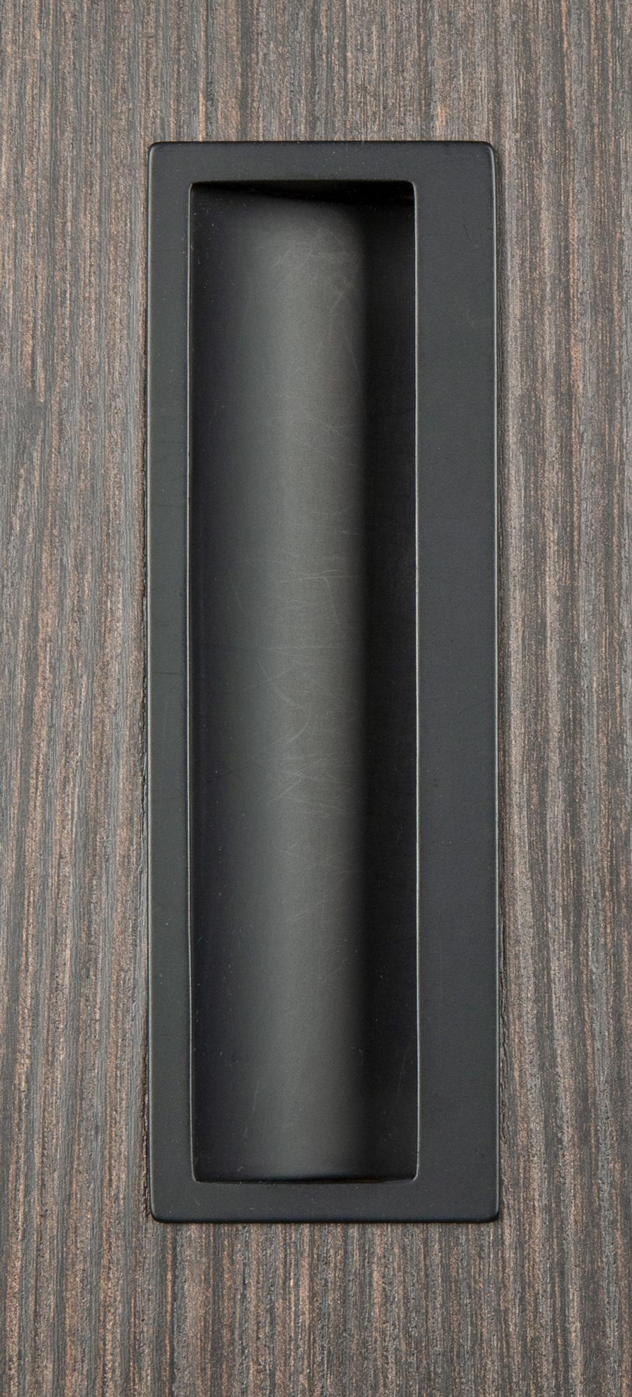 Ручка врезная мебельная мат.черный