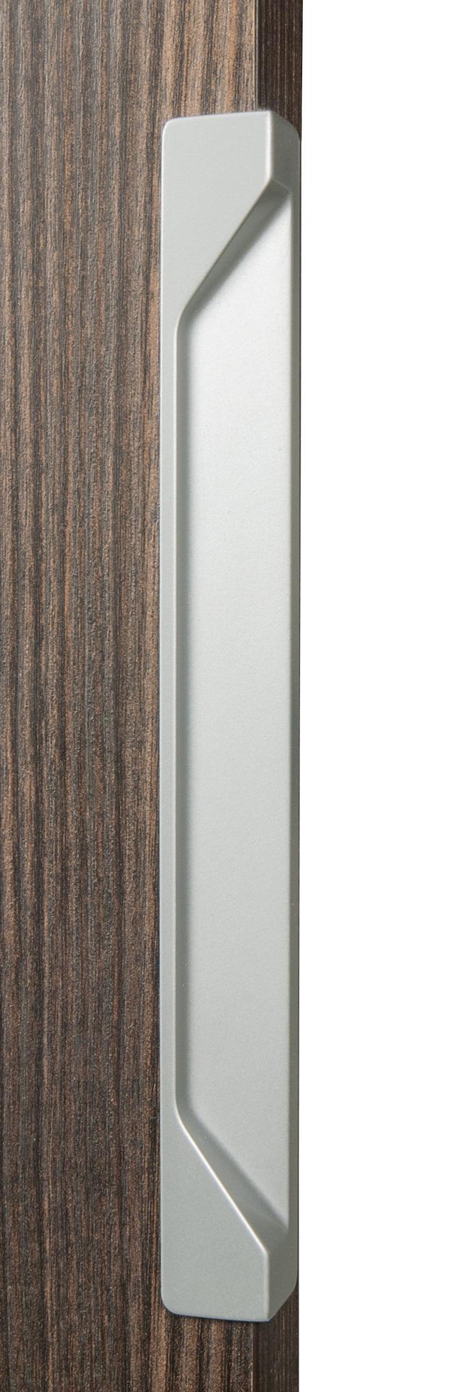 Ручка врезная мебельная, L 200мм мат.серебро