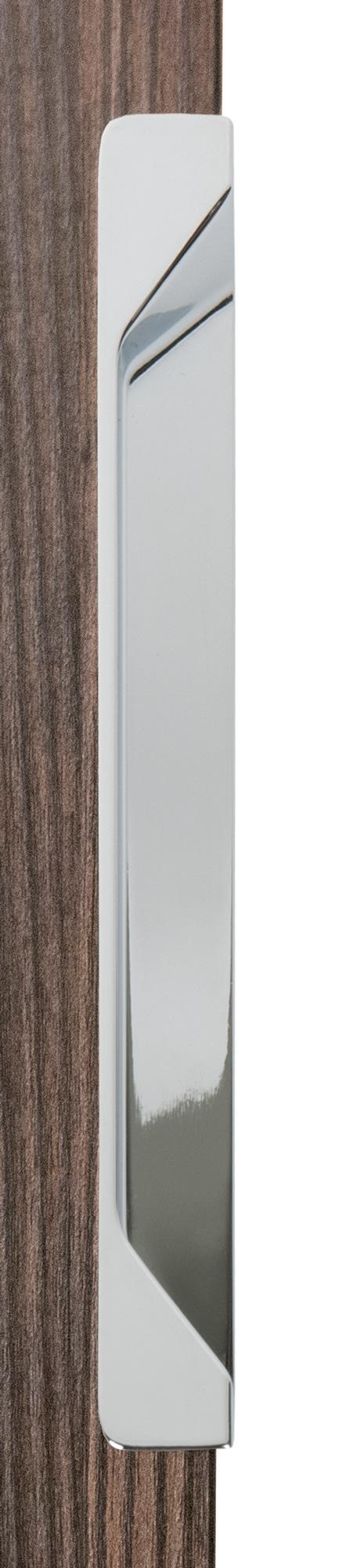 Ручка врезная мебельная, L 200мм хром