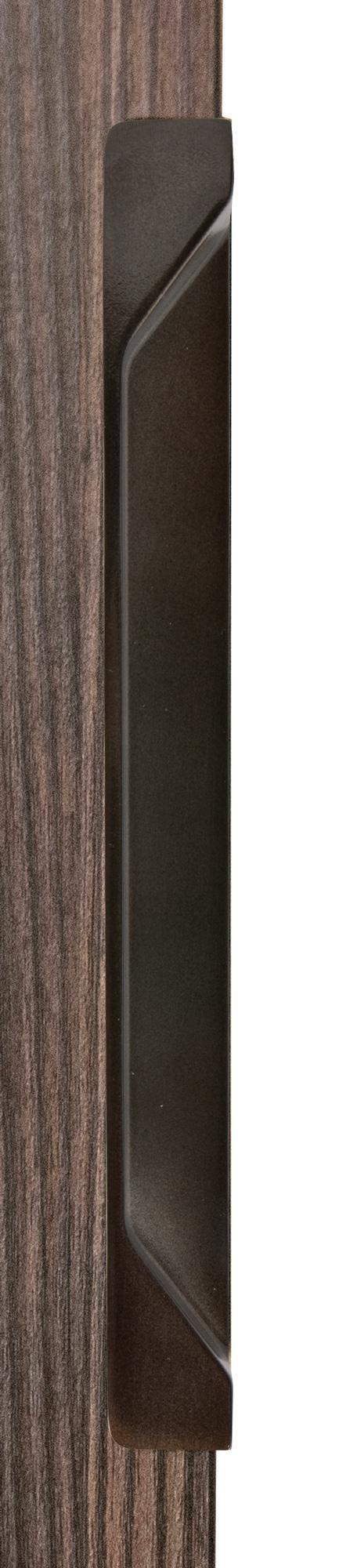 Ручка врезная мебельная, L 200мм венге