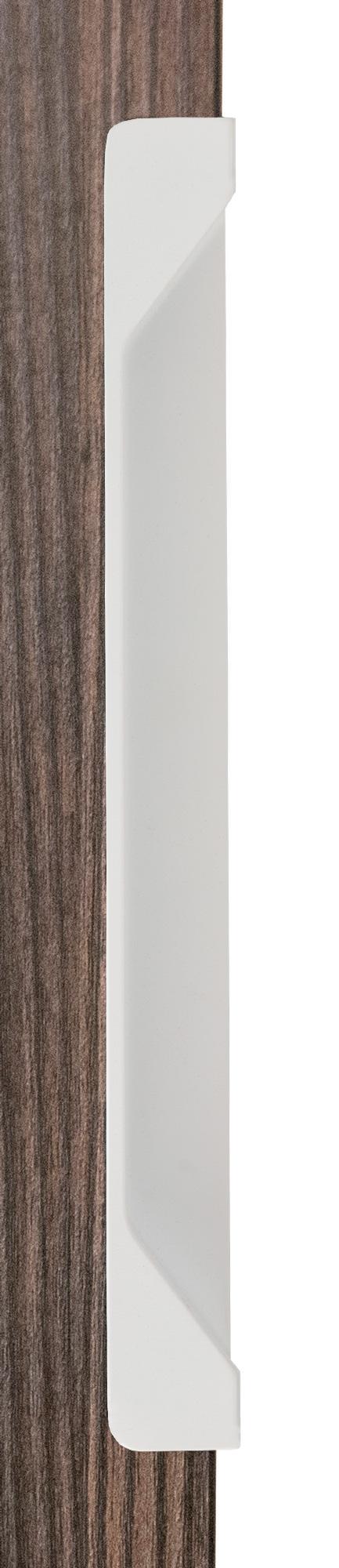 Ручка врезная мебельная, L 200мм белый