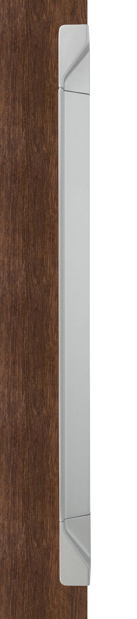 Ручка врезная мебельная, L 500мм мат.серебро