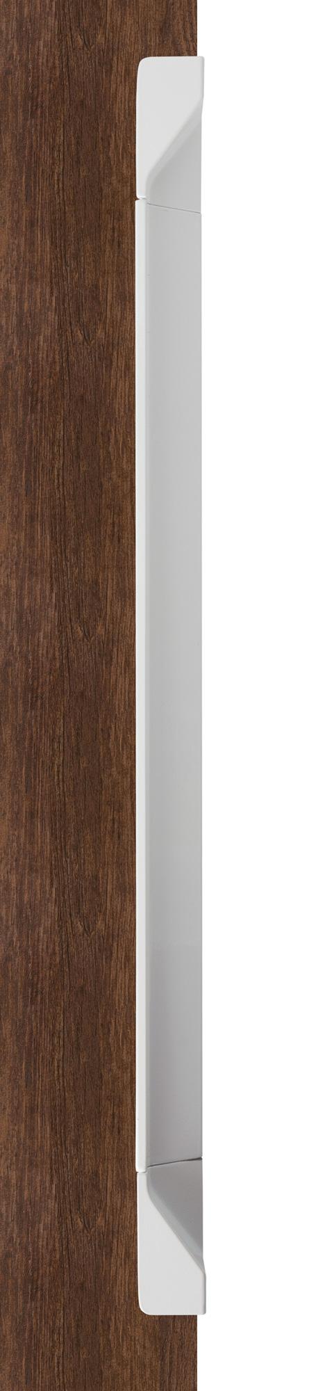 Ручка врезная мебельная, L 350мм белый