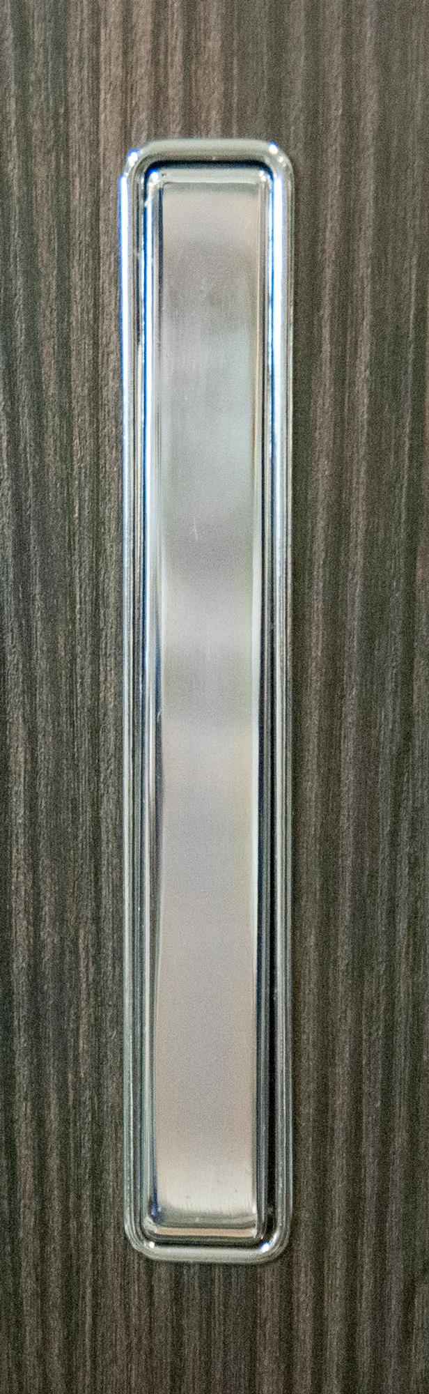 Ручка врезная мебельная 25х160 хром