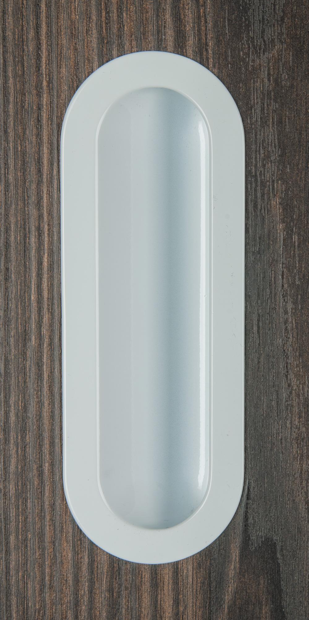 Ручка врезная мебельная 140х50 белый