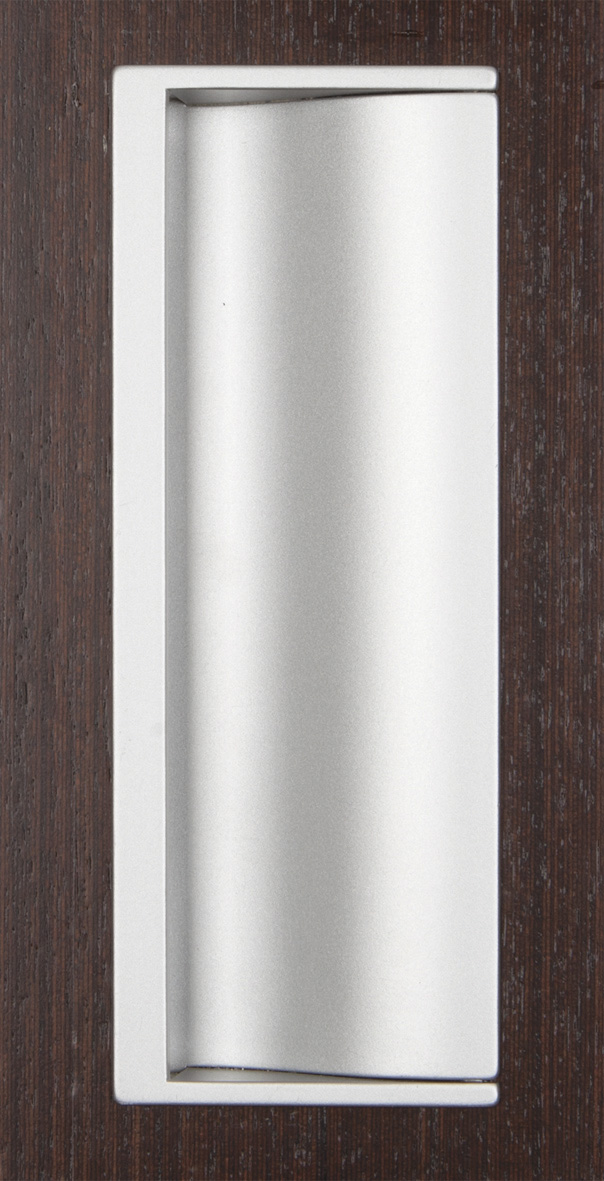 Ручка врезная мебельная 162х60 (MN800Z12E101E101) мат. серебро