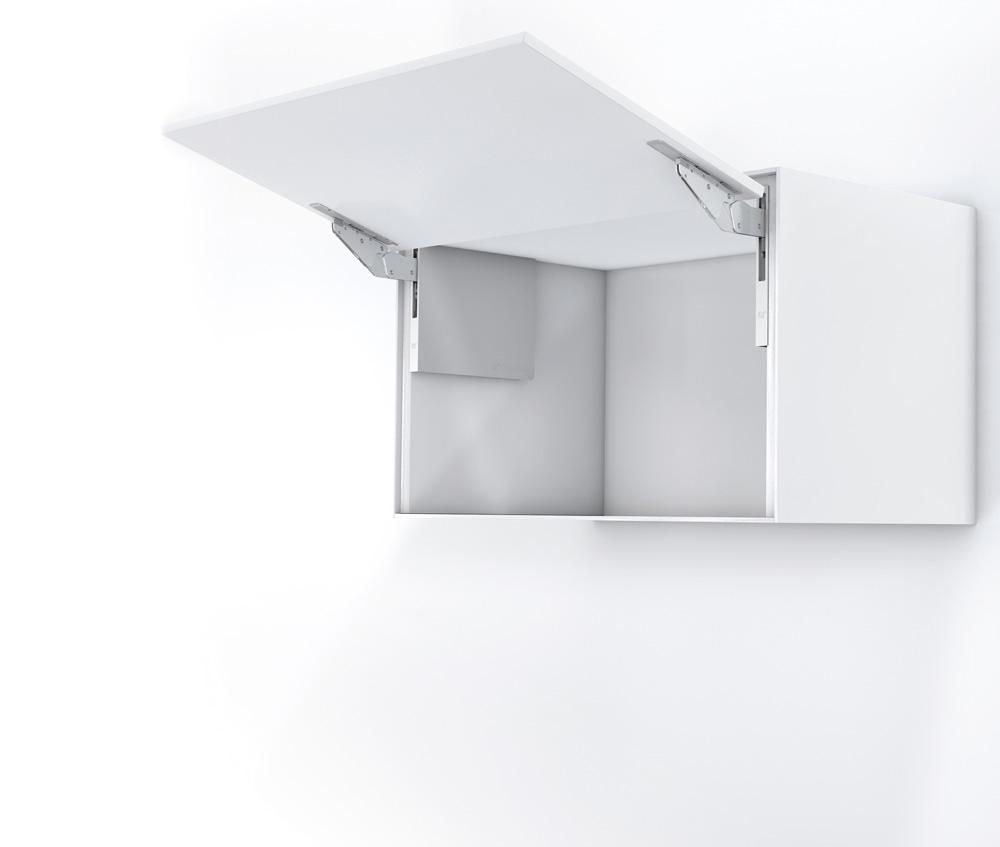 Подъемник Kinvaro T-Slim для фасадов дерев. и Laconic, КМ 1000-2250, с открытием от нажатия, накладной, белый