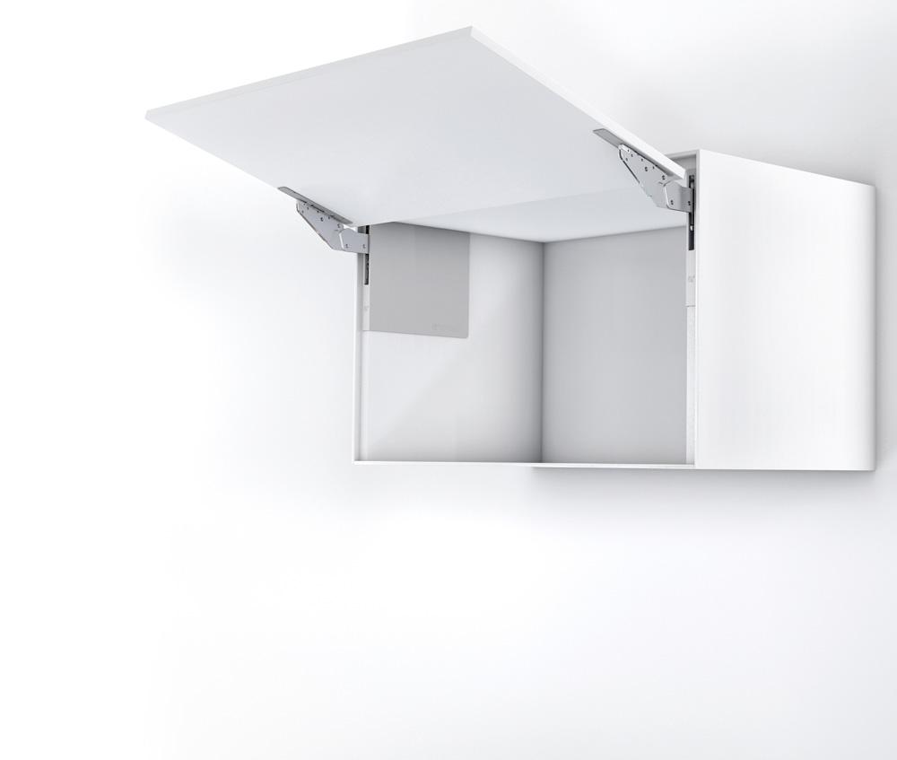 Подъемник Kinvaro T-Slim для фасадов дерев. и Laconic, КМ 1000-2250, с открытием от нажатия, белый