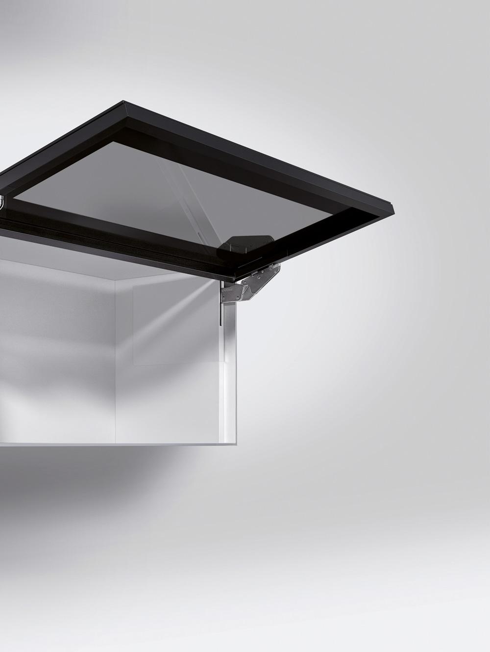 Подъемник Kinvaro T-Slim для фасада из алюм. рамки, КМ 1000-2250, с открытием от нажатия, белый