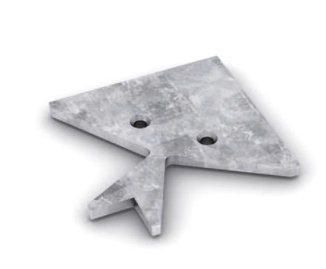 Угловой крепежный элемент для рамочного профиля TS700 сталь