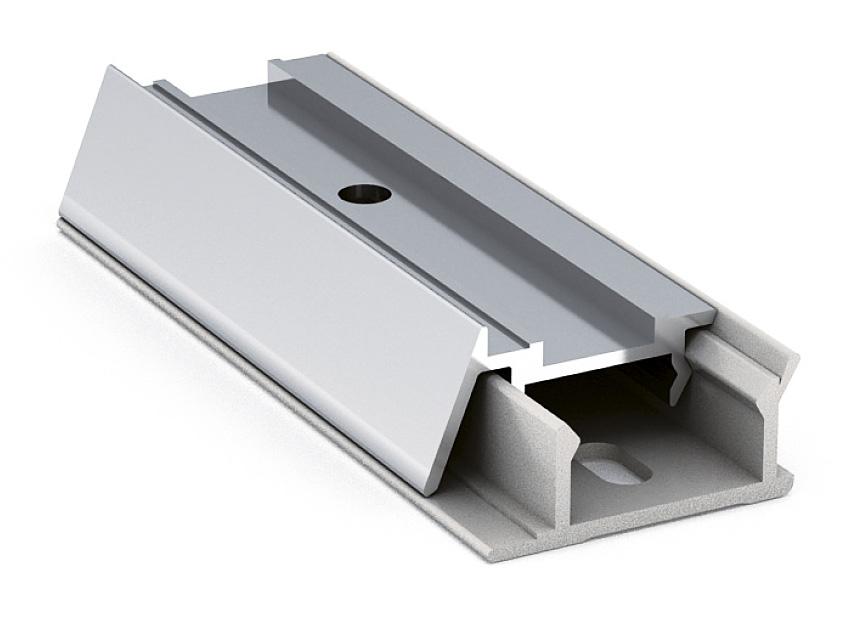 Профиль алюминиевый ALZATINA SI5811, 4200мм глянцевый алюминий