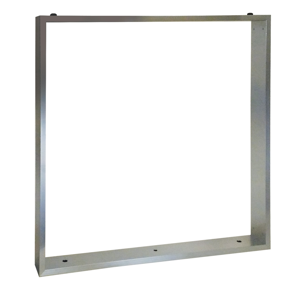 Ножка стола прямоугольная SXP1 из профиля ARPC0, 870*887*20см (SXP1ARPCO87*89) (2 боковины+низ+верх) глянцевый алюминий