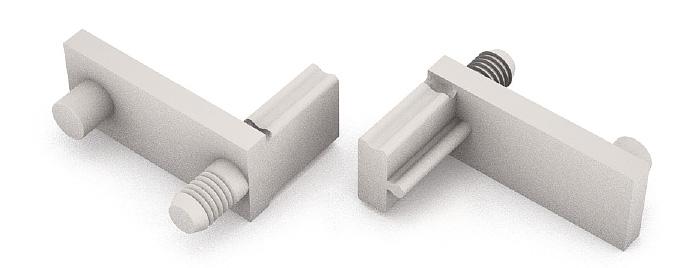 Угловой соединительный элемент CATENARIA TS1976 для крепленая профиля к боковинам шкафа пластик