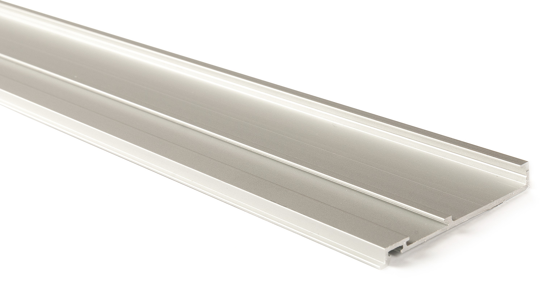 Декоративная планка для верхн профиля L=6200мм алю, серебро