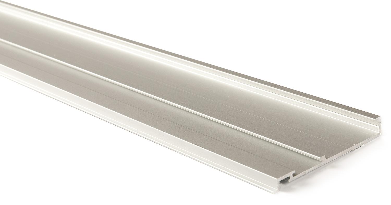 Декоративная планка для верхн профиля L=3100мм алю, серебро
