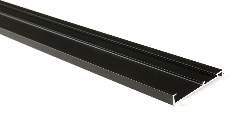 Декоративная планка для верхн профиля L=3100мм алю, черный