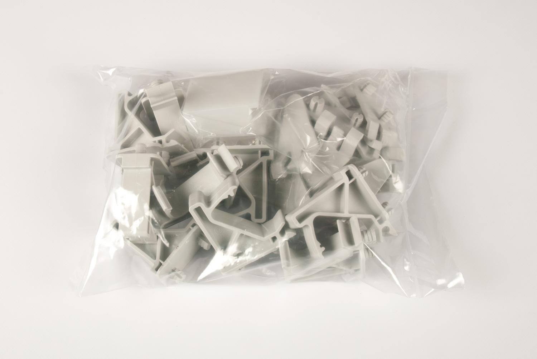 Комплект из 9шт клипс пластик