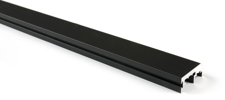Вертикальный профиль без ручки (3м) чёрный