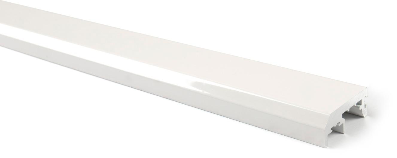 Вертикальный профиль без ручки (6м) белый