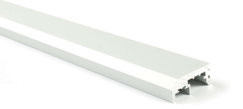 Вертикальный профиль без ручки (3м) серебро